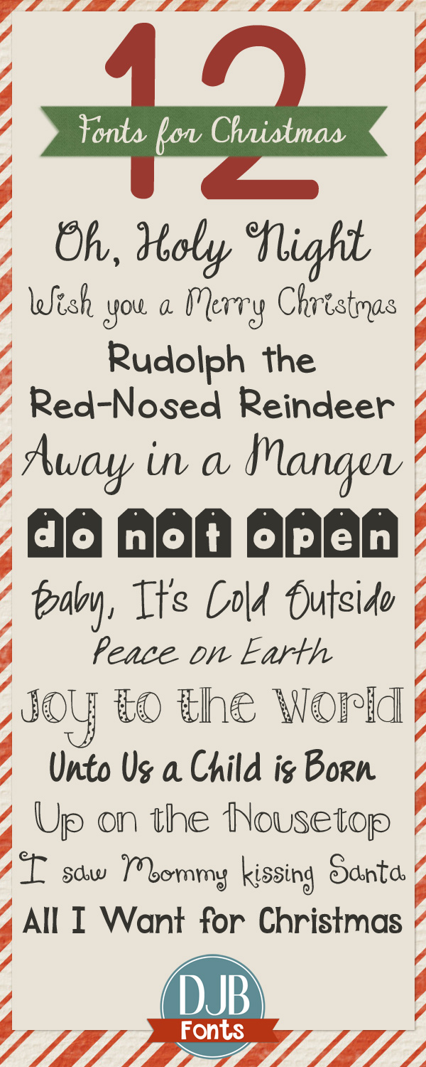 12 Free Christmas Fonts from darcybaldwin.com