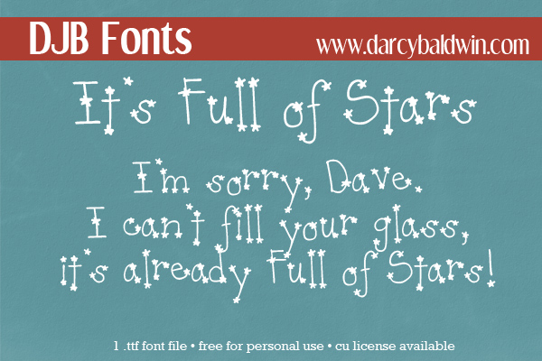FREE FONT: It's Full of Stars - old school font that's fun! Great for holidays!
