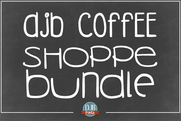 DJB Coffee Shoppe Fonts Bundle @ darcybaldwin.com. Free for personal use.