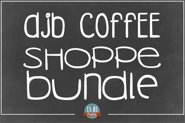 DJB Coffee Shoppe Fonts Bundle @ darcybaldwin.com. Free for personal use.