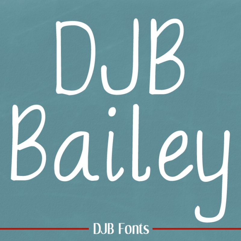 DJB Bailey Font Handwritten