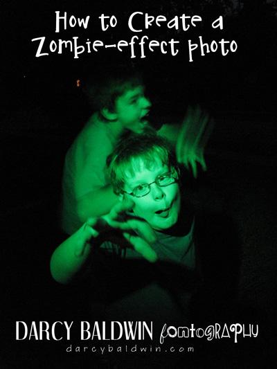 How to Create a Zombie Effect Photo Tutorial | Darcy Baldwin {fontography} | darcybaldwin.com #zombie #halloween