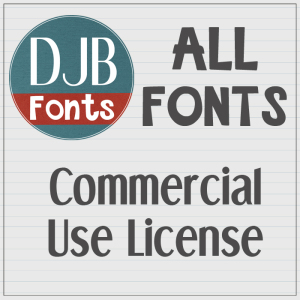DJB Fonts - Commercial Use License - ALL the Fonts