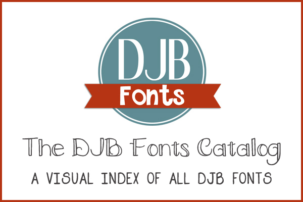 A visual catalog of all the DJB Fonts available @ darcybaldwin.com