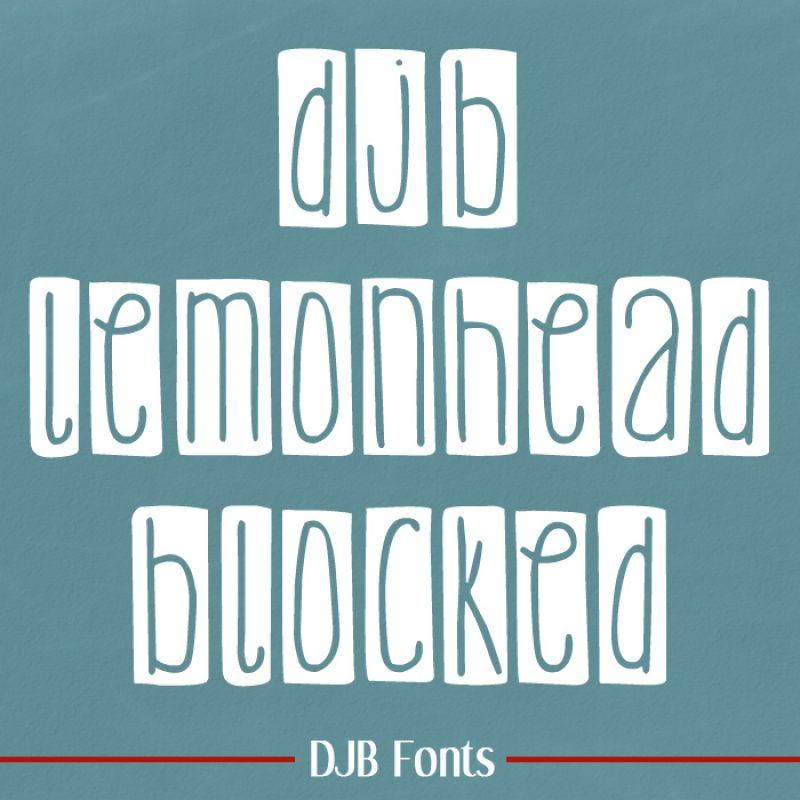 DJB Lemon Head Fonts
