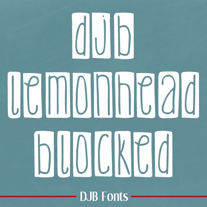 DJB Lemon Head Fonts