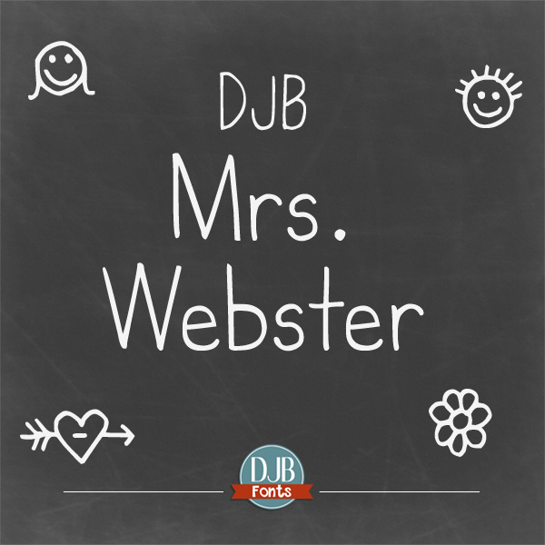 DJB Mrs. Webster Font