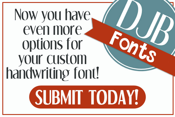 Now you have even more options to get your handwriting font created by Darcy Baldwin {fontography}. Click for more details!