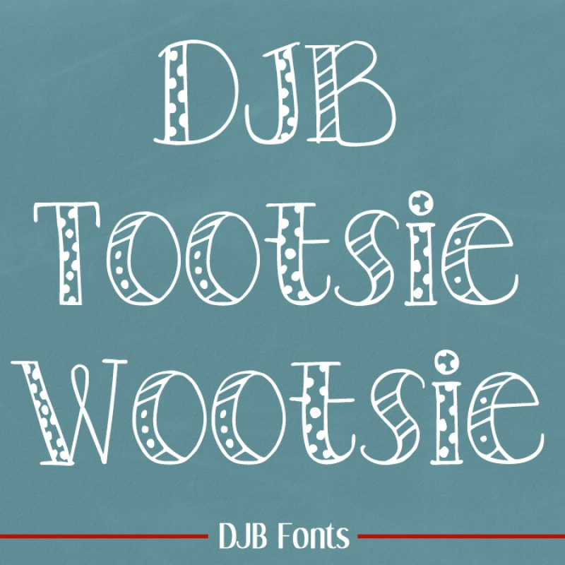 DJB Tootsie Wootsie Font
