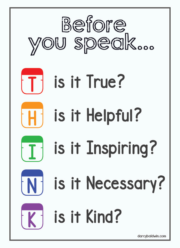 One of our inspirational posters this year. Even for older kids, these are character traits to reflect on ... maybe even more so as they experiment with their adult voices. You can download the free printavle from my blog