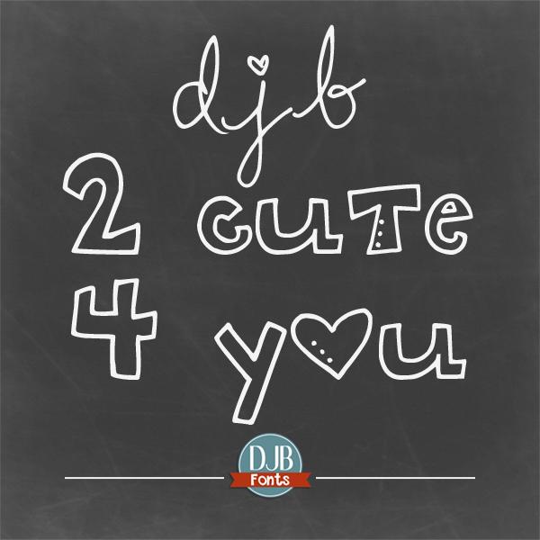 DJB 2 Cute 4 U Font