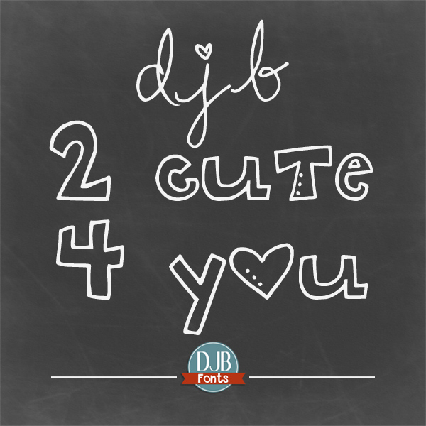DJB 2 Cute 4 U is a multi-case font where you can mix and match the cases to make something whimsically cute, or you can use the single cases to give an eclectic mixed print or a fun outline font! It is free for personal use with commercial licensing available.
