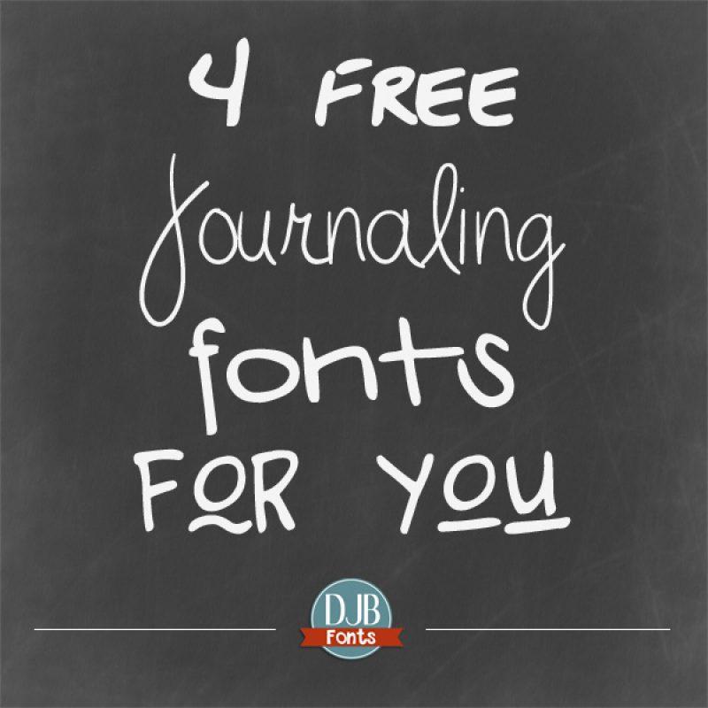 4 Free Journaling Fonts