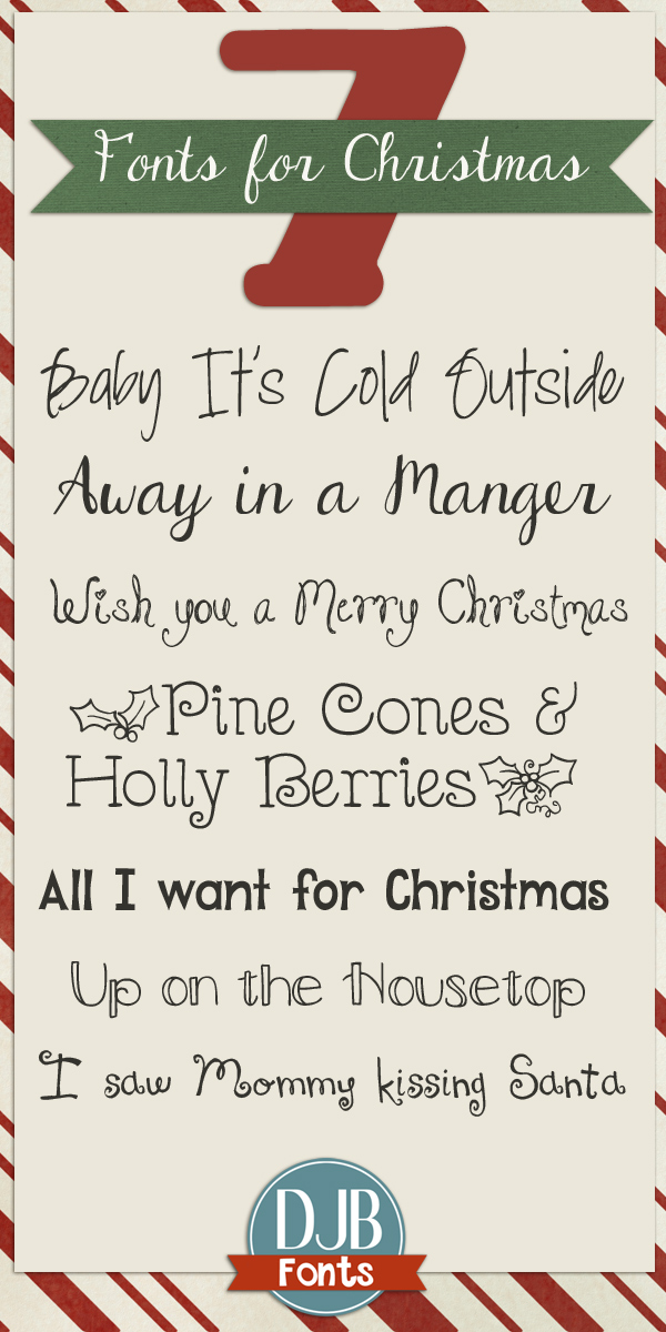 It's that time of year! 7 Great Free Fonts to add to your Christmas Wish List. I love the last one!