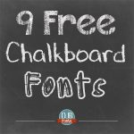 9 Free Chalkboard Fonts from Darcy Baldwin Fonts