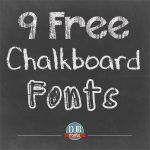 9 Free Chalkboard Fonts from Darcy Baldwin Fonts