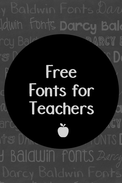 Free Fonts for Teachers