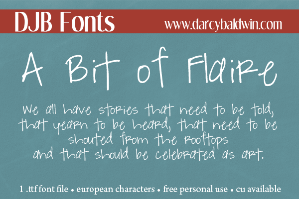 DJB Fonts | Would you love to add A Bit of Flaire to your journaling and text?