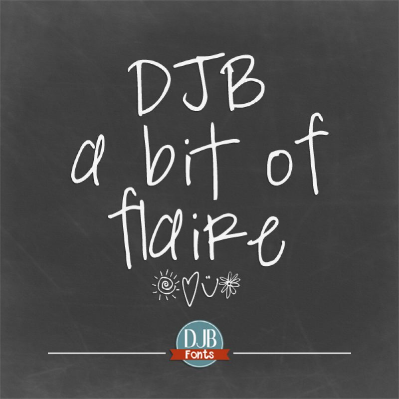 DJB A Bit of Flaire Font