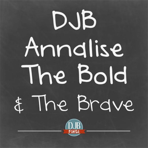 DJB Annalise the Bold Font