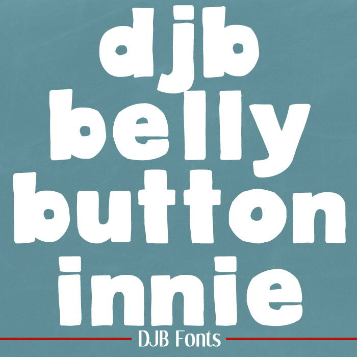 FREE FONT: Belly Button Innie by Darcy Baldwin {fontography} - big bold single case font that makes a great title font! Free for personal use, CU available.