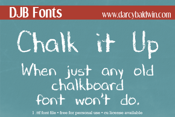 FREE FONT: Chalk It Up