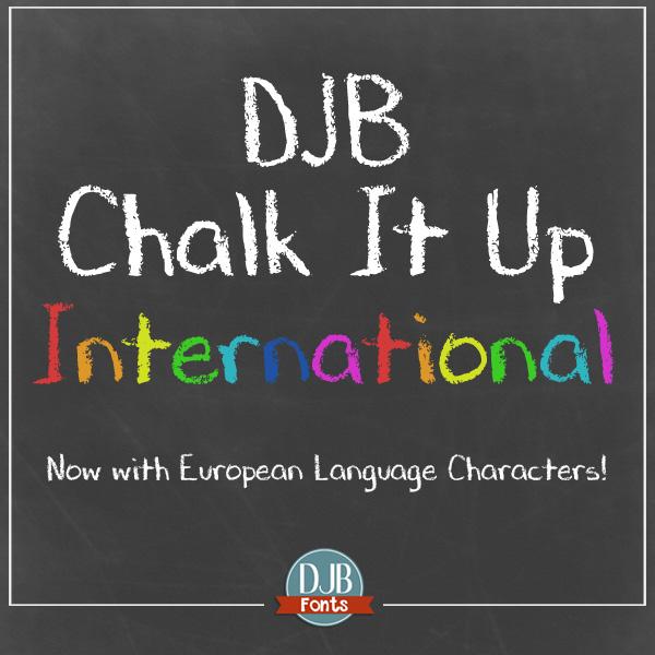 DJB Chalk It Up Font