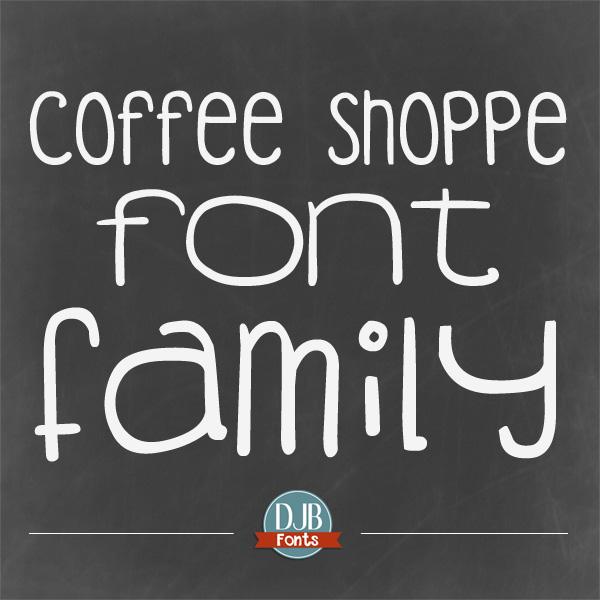 DJB Fonts - Coffee Shoppe Font Family @ darcybaldwin.com