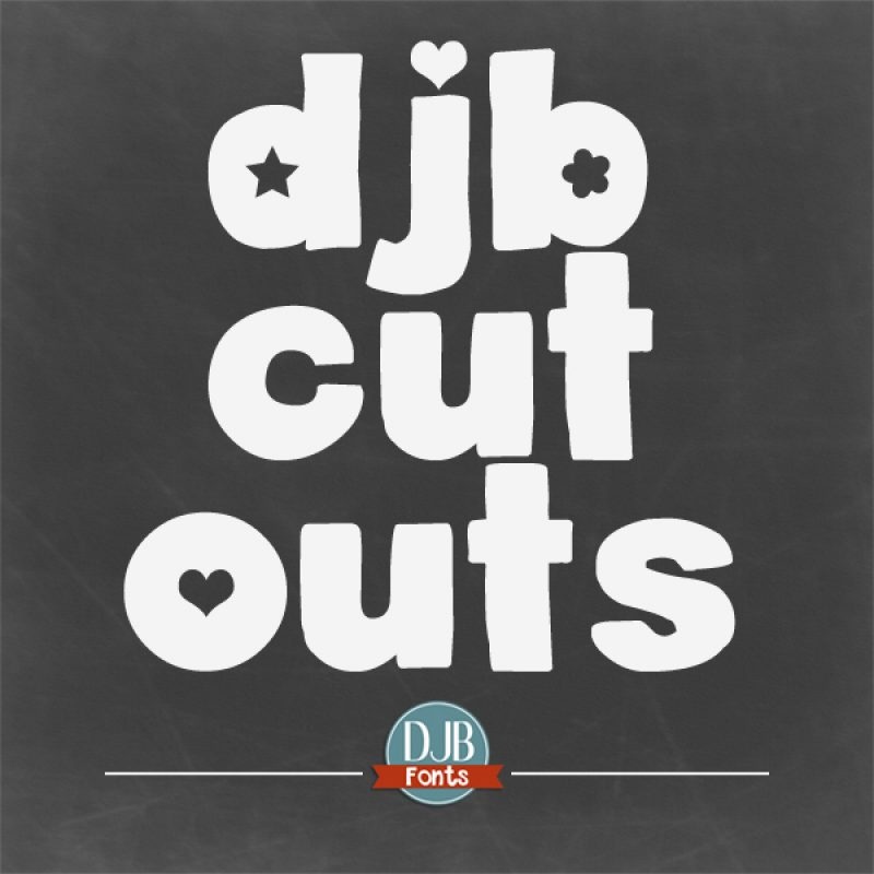 DJB Cutouts Fonts