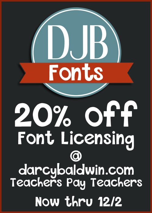 Cyber Monday Sale - 20% off all Font Licensing through 12/2.