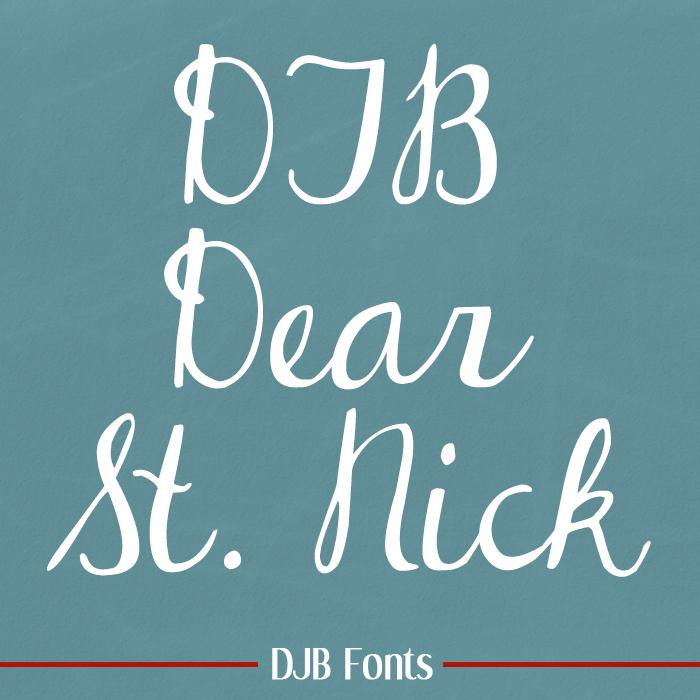 DJB Dear St. Nick Font