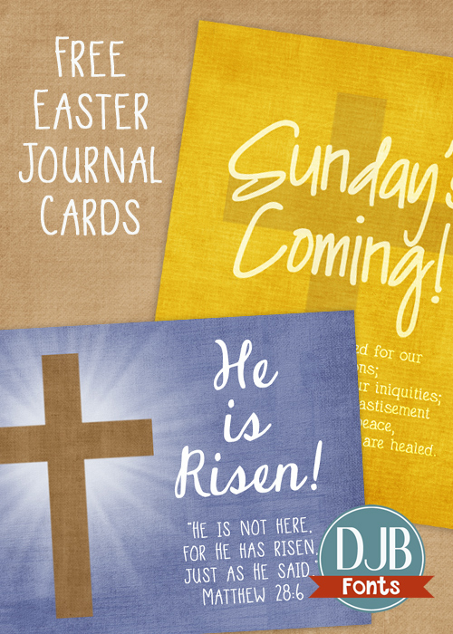 Free Easter journaling cards for Project Scrapbook!