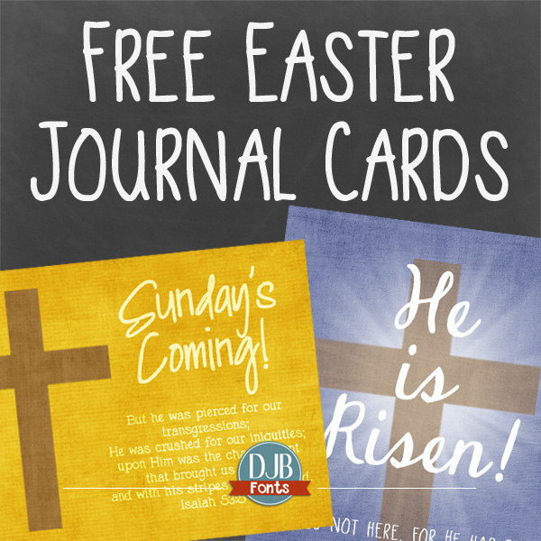 Free Easter Journal Cards