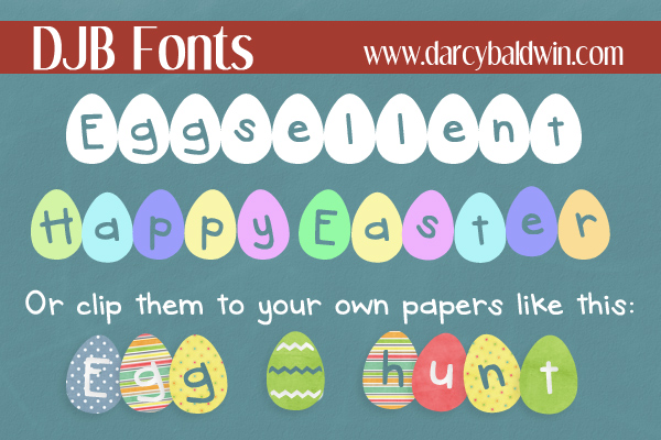 This font is Eggsellent!! Happy Easter from DJB Fonts!