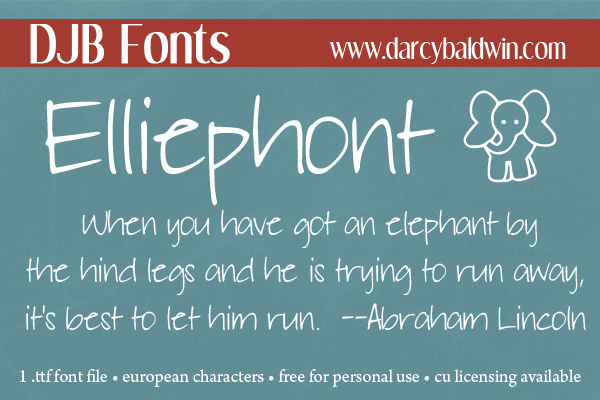 Never forget a thing when you journal with Elliephont! And what a cute little elephant!