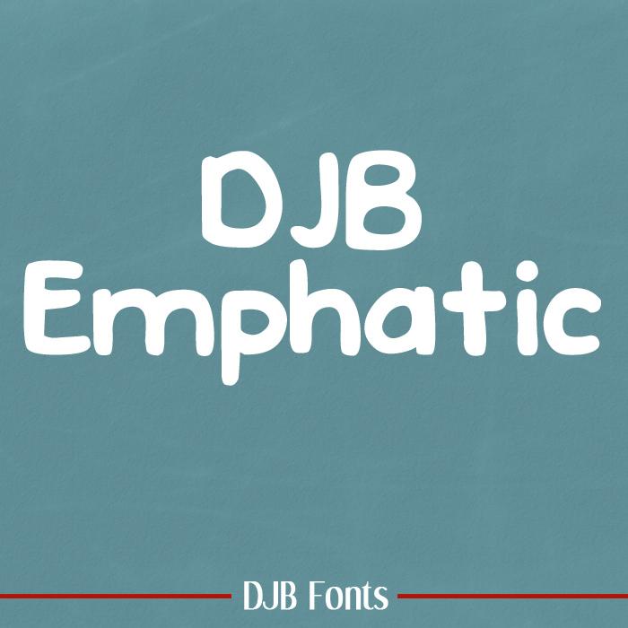 DJB Emphatic Font