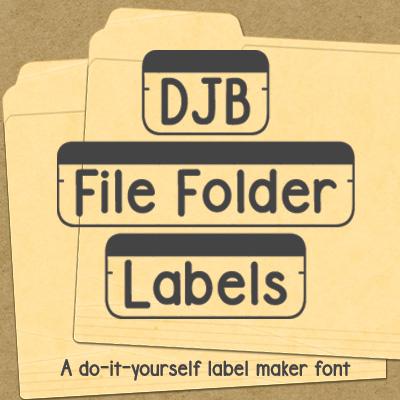 DJB File Folder Labels Font
