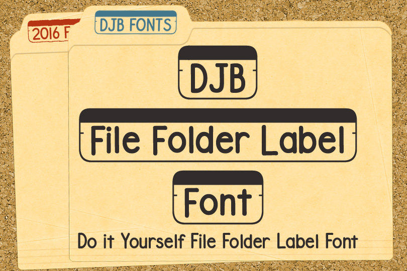 DJB Fonts - File Folder Label Font - free for personal use | commercial licensing available.