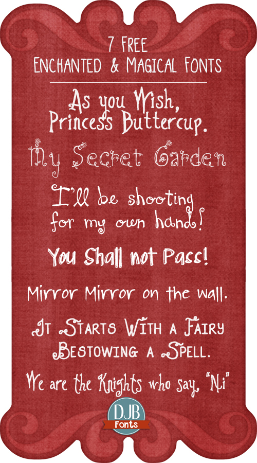 7 Truly Magical Free Fonts fit for a Knight or Princess!