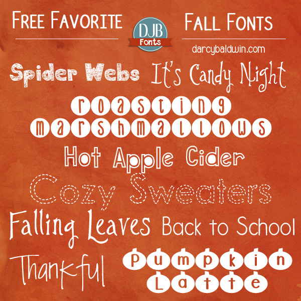 Favorite Free Fall Fonts