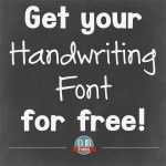 Get your own handwriting font for free!