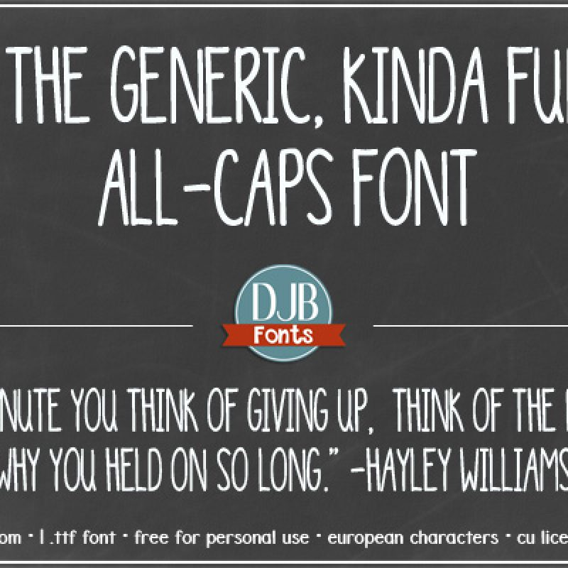 DJB Generic Font