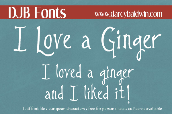 FREE FONT! I Love a Ginger - perfect for those girls who love those ginger boys! #spooky #halloween #wizards