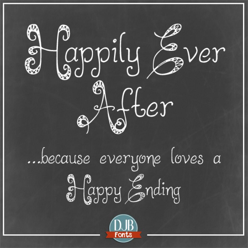 DJB Happily Ever After Fonts