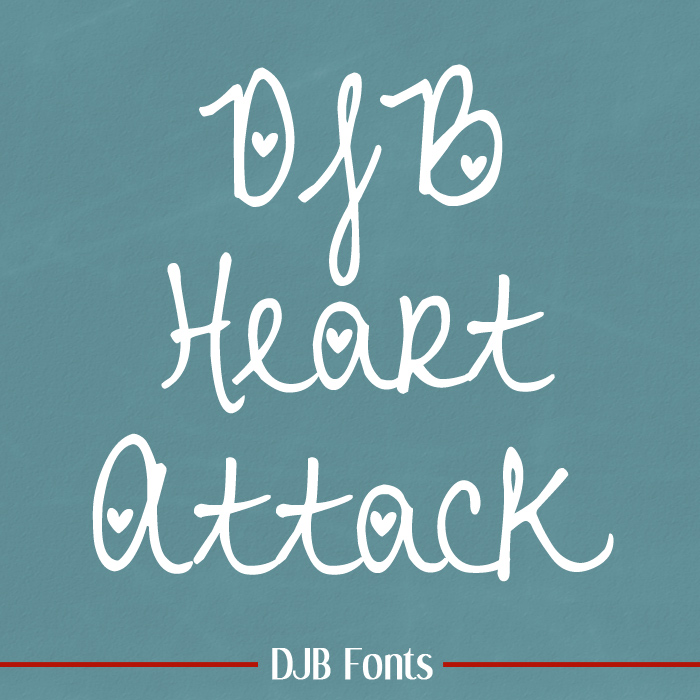DJB Heart Attack Font