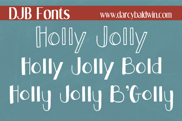 The Holly Jolly Font Family @ DJB Fonts