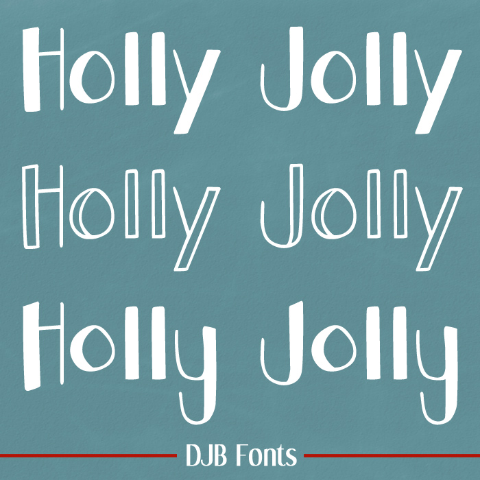 DJB Holly Jolly Font Family
