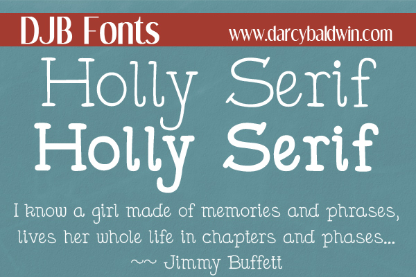 DJB Holly Serif - the hand drawn serif font that looks like it belongs in a book! Free for personal use @ DJBFonts