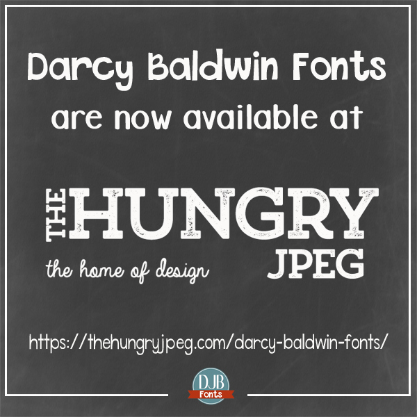 DJB Fonts is now available at The Hungry JPEG.com