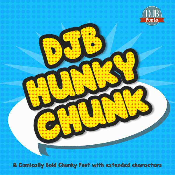 DJB Hunky Chunk Font